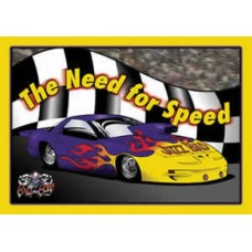 The Need for Speed tin metal sign