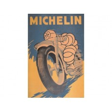 Michelin Man tin metal sign
