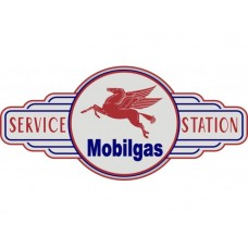 Mobilgas Service Station tin metal sign