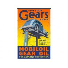 MobilOil Gear Oil tin metal sign