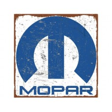 Mopar Blue and White tin metal sign