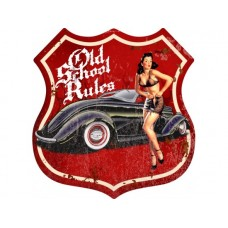 Old School cool '36 Ford shield tin metal sign