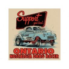 Ontario Drag Racer tin metal sign