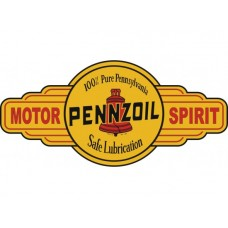 Pennzoil Motor Spirit Service Station tin metal sign