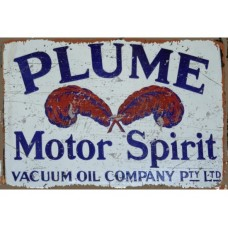 Plume Rectangle tin metal sign