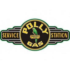 Polly Gas Service Station tin metal sign