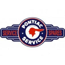 Pontiac Service Station tin metal sign