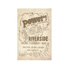 Riverside Raceway tin metal sign
