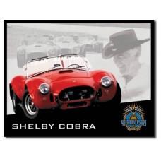 Shelby Cobra 40th tin metal sign
