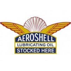 Aeroshell tin metal sign