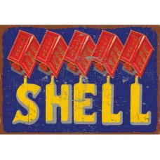 Shell Motor Spirit tin metal sign