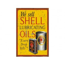 We Sell Shell tin metal sign