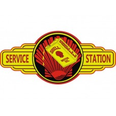 Shell Service Station tin metal sign