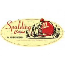 Spalding Cams Oval Cutout tin metal sign