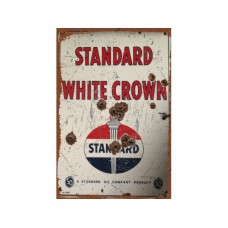 Std White Crown tin metal sign