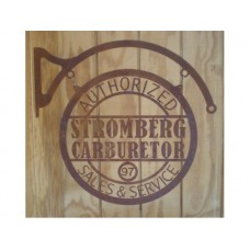 Laser Cut Rusty Look Stromberg Carburetor tin metal sign