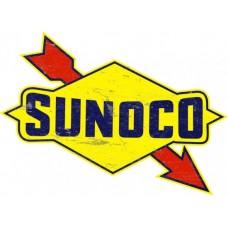 Sunoco Arrow tin metal sign
