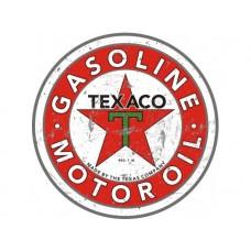 Texaco Large Round tin metal sign