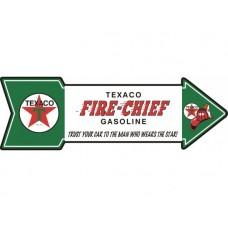 Texaco Fire Chief Arrow tin metal sign
