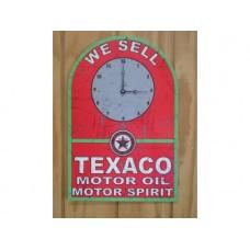 Texaco Clock tin metal sign