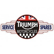 Triumph Service Station tin metal sign