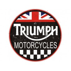 Triumph Large Round  tin metal sign