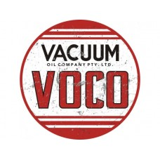 Voco Vacuum large round tin metal sign