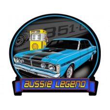 Aussie Legends Ford GTHO Blue tin metal sign