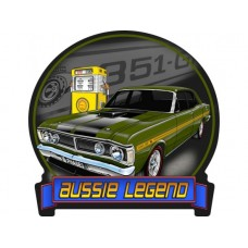 Aussie Legends Ford GTHO Green tin metal sign