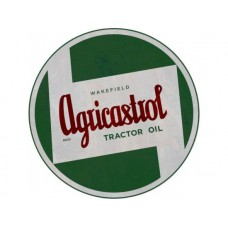 Agricastrol Tractor Round tin metal sign