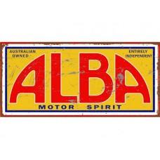 Alba Motor Spirits Tin Metal Sign