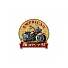 American Biker tin metal sign