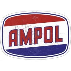 Ampol Die Cut tin metal sign