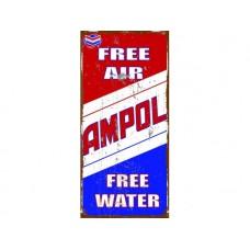 Ampol Free Air tin metal sign