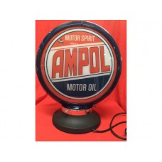 Petrol Bowser Globe and Base Ampol illuminated sign