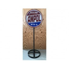 Ampol Lollypop Stand tin metal sign