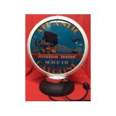 Petrol Bowser Globe and Base Atlantic illuminated sign