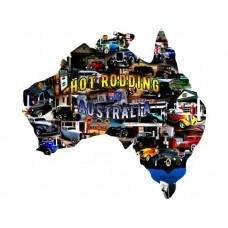 Australian Hot Rod Map tin metal sign