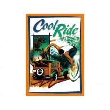 Cool Ride tin metal sign