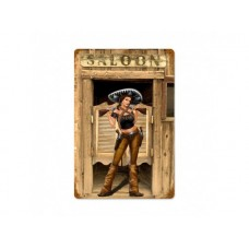 Bandidos Saloon Pinup tin metal sign