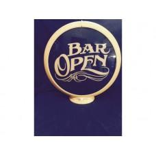 Petrol Bowser Globe Bar Open
