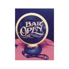 Petrol Bowser Globe and Base Bar Open illuminated sign