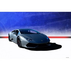 Black Lamborghini Huracan tin metal sign