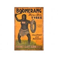 Boomerang Tyres tin metal sign