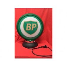 Petrol Bowser Globe and Base BP illuminated sign petrol oil