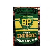 BP Oil Can tin metal sign
