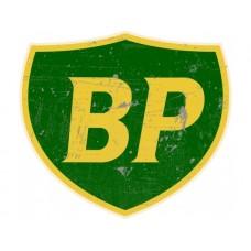 BP Shield tin metal sign