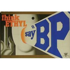 BP Think Ethyl tin metal sign