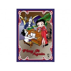 Betty Boop Play it Again tin metal sign