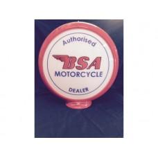 Petrol Bowser Globe BSA Motocycle